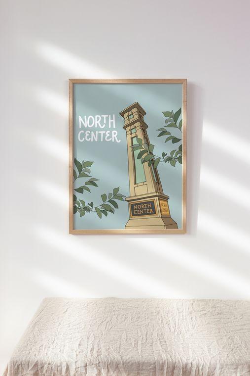 North Center - Chicago Neighborhood Illustrated Art Print