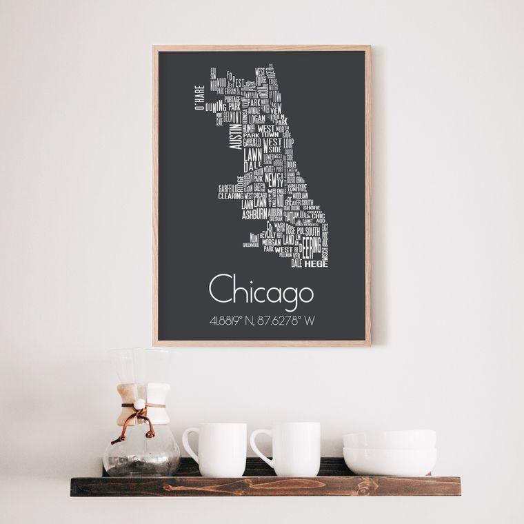 Chicago Neighborhood Art Print