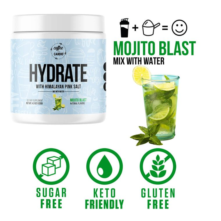 Hydrate- Electrolyte for Water- Mojito Blast
