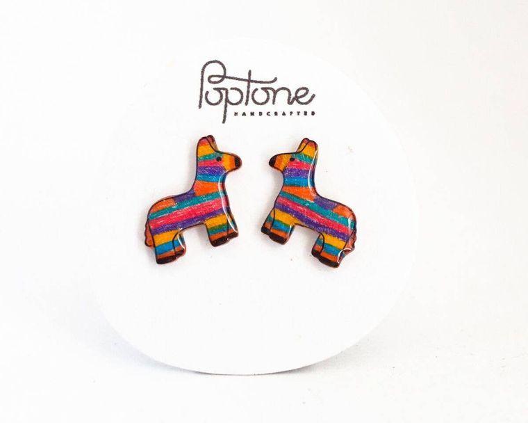 Piñata Earrings / Mexican Pinata