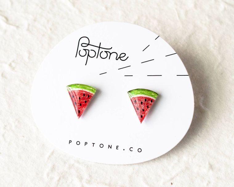 Watermelon Fruit Stud Earrings