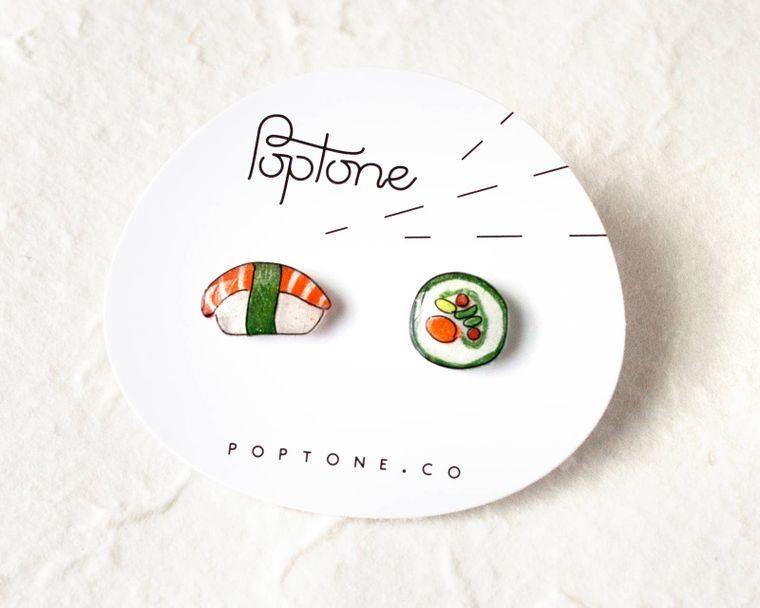 Sushi Food Earrings