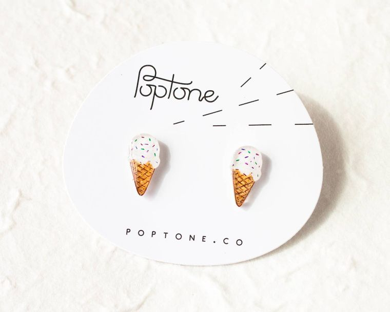 Ice Cream Stud Earrings