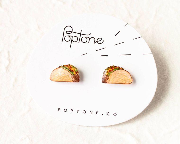 Taco Food Earrings