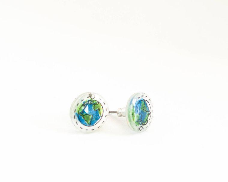 Planet Earth Earrings