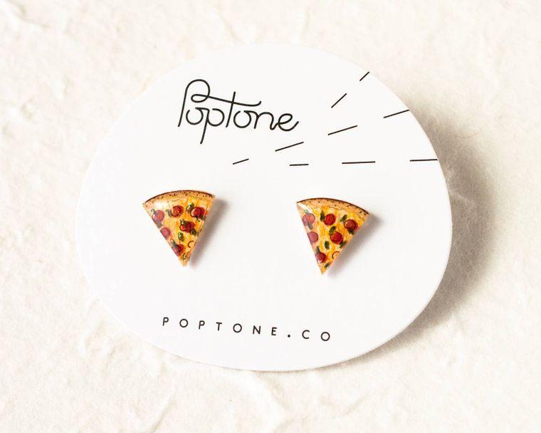 Pizza Slice Food Earrings