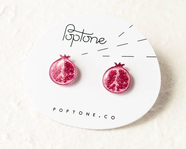 Pomegranate Fruit Earrings