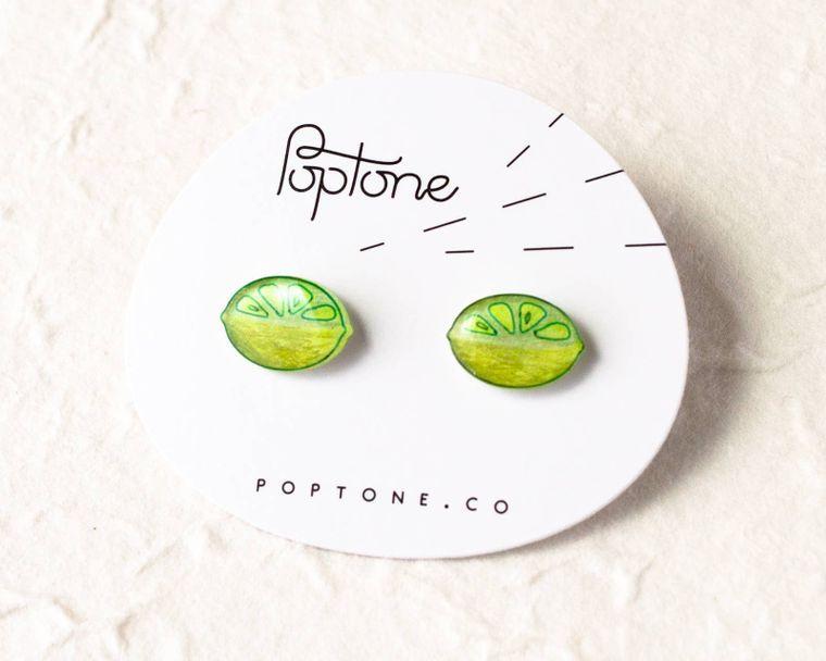 Lime Fruit Earrings