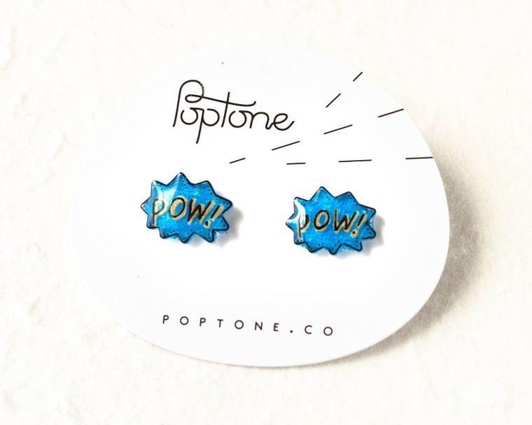 POW Comic Bubble Earrings