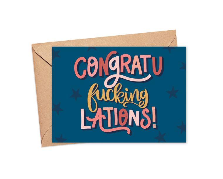 Congratu-fucking-lations Greeting Card