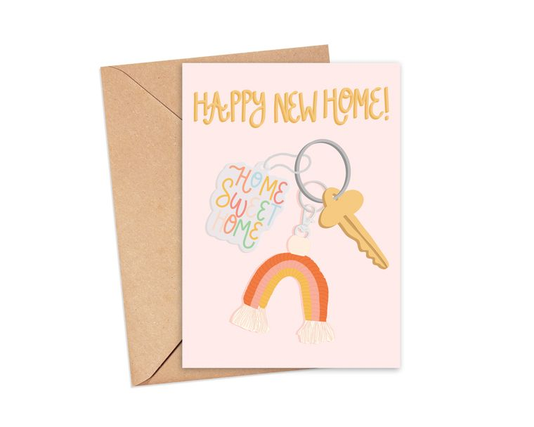 Happy New House Greeting Card