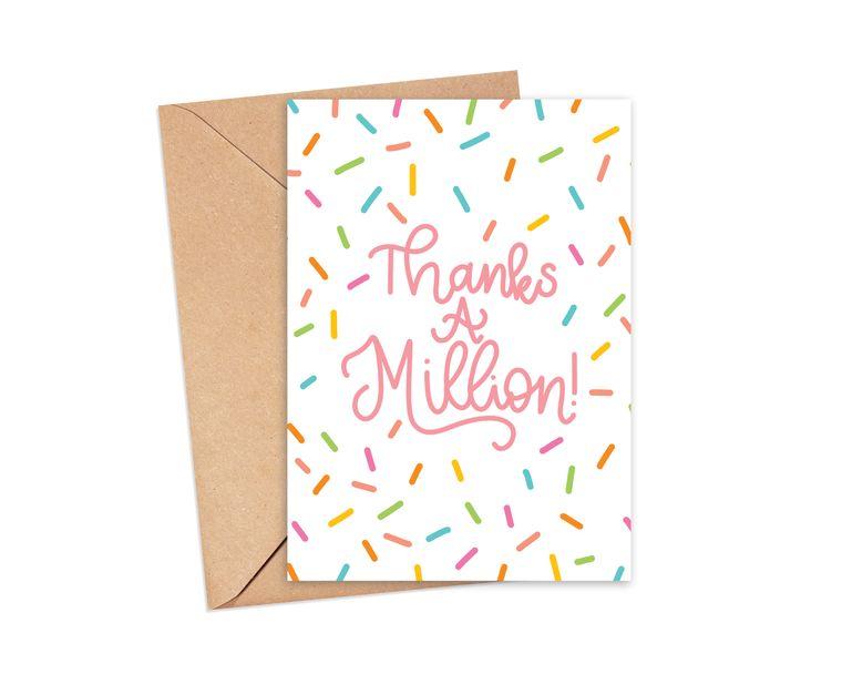 Thanks a Million Sprinkle Greeting Card