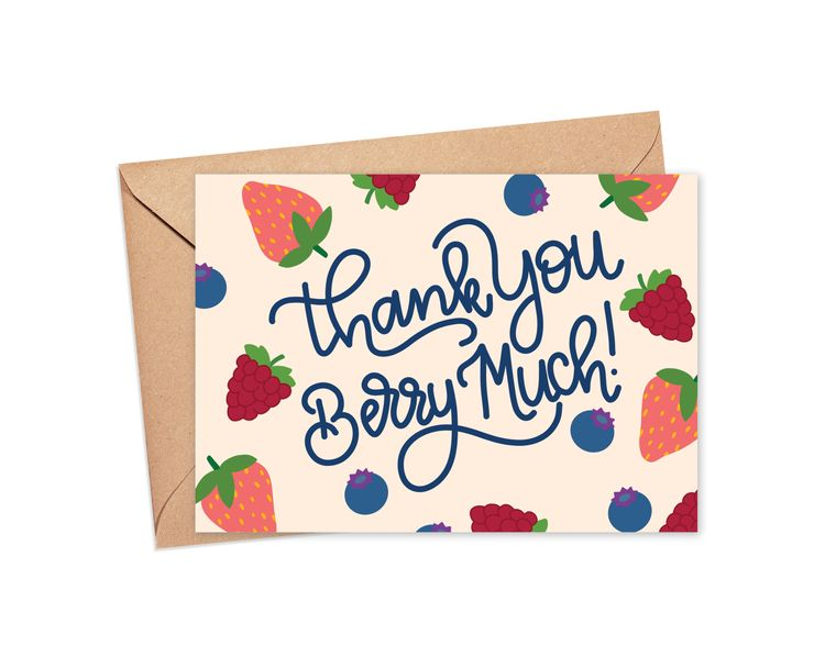 Thank You Berry Much Fruit Medley Greeting Card