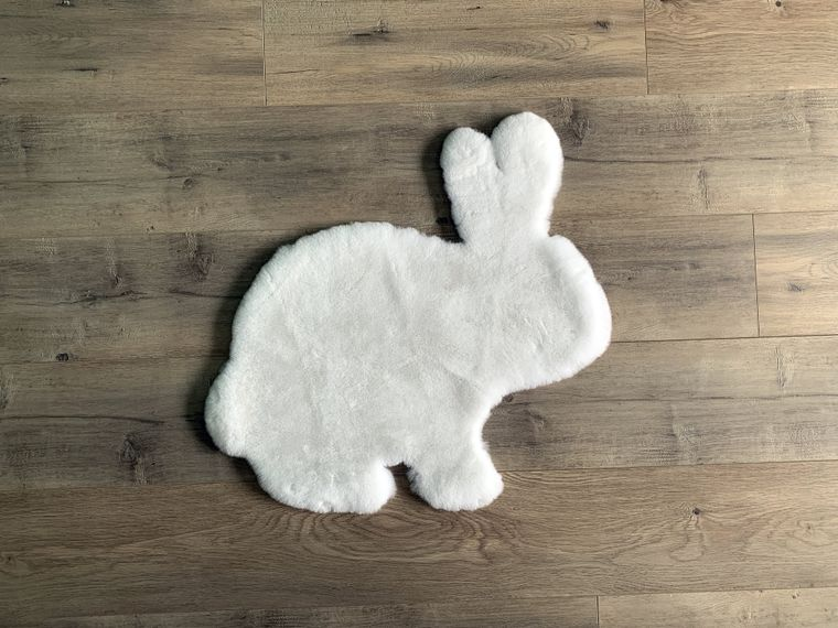 Machine Washable Faux Rabbit Fur Rabbit Area Rug
