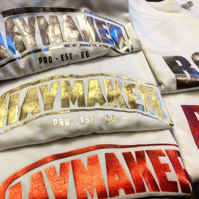 Haymaker Boxing Metallic Branded T-Shirts