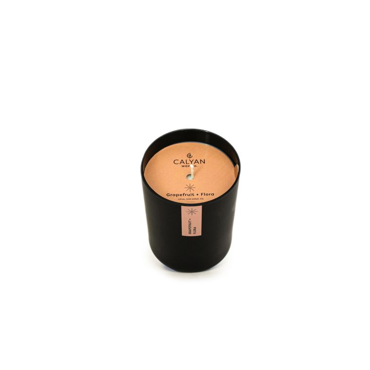 Grapefruit + Flora Matte Black Tumbler Candle