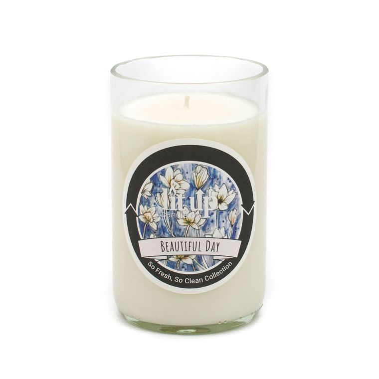 12 oz. Beautiful Day soy candle in wine bottle