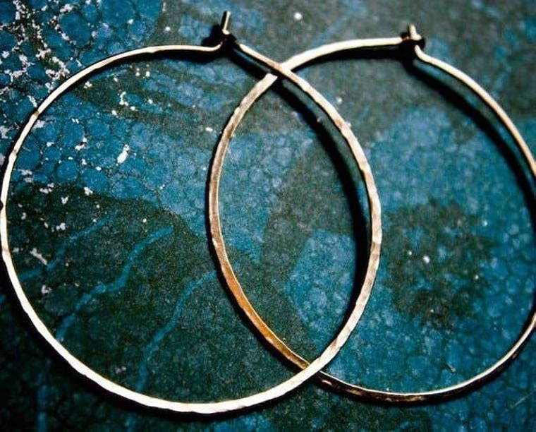 Extra Large Crescent Moon Hoops