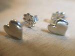 Heart Post Earrings - Sterling Silver
