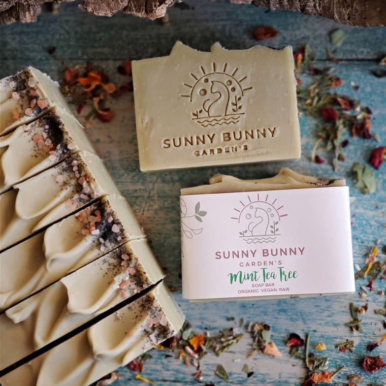 Handmade Soap Organic Vegan- Mint Tea Tree