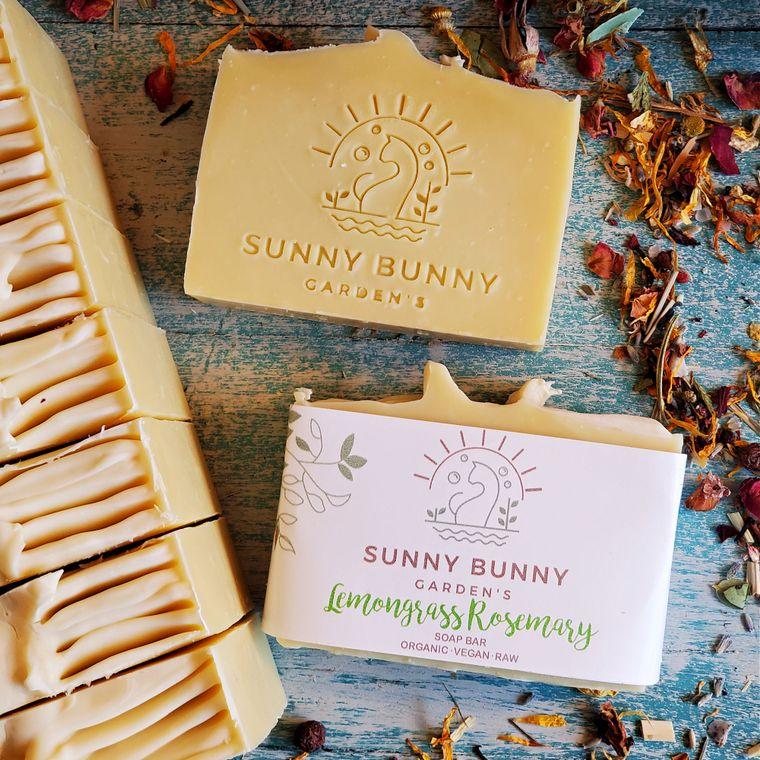 Soap Bars All Natural Organic Vegan - Lemongrass Rosemary