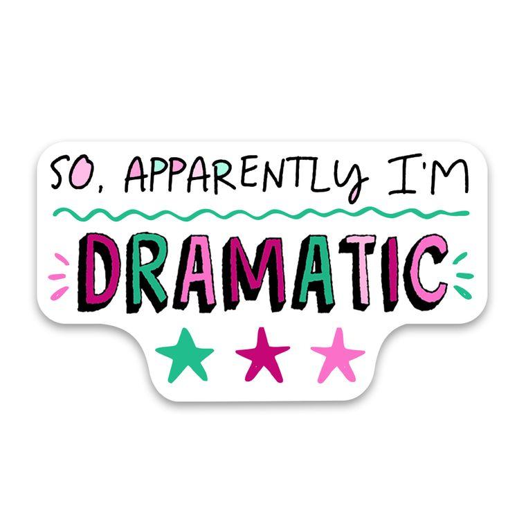 Sticker Apparently Dramatic