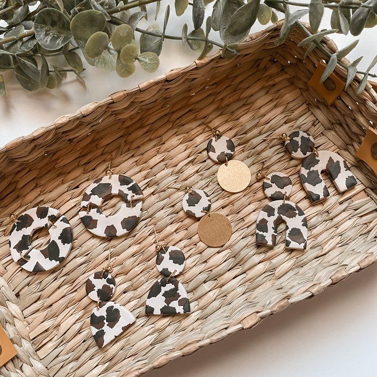Cheetah Clay Earrings - Multiple Options