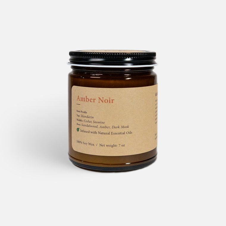 Amber Noir Single Wick Soy Candle