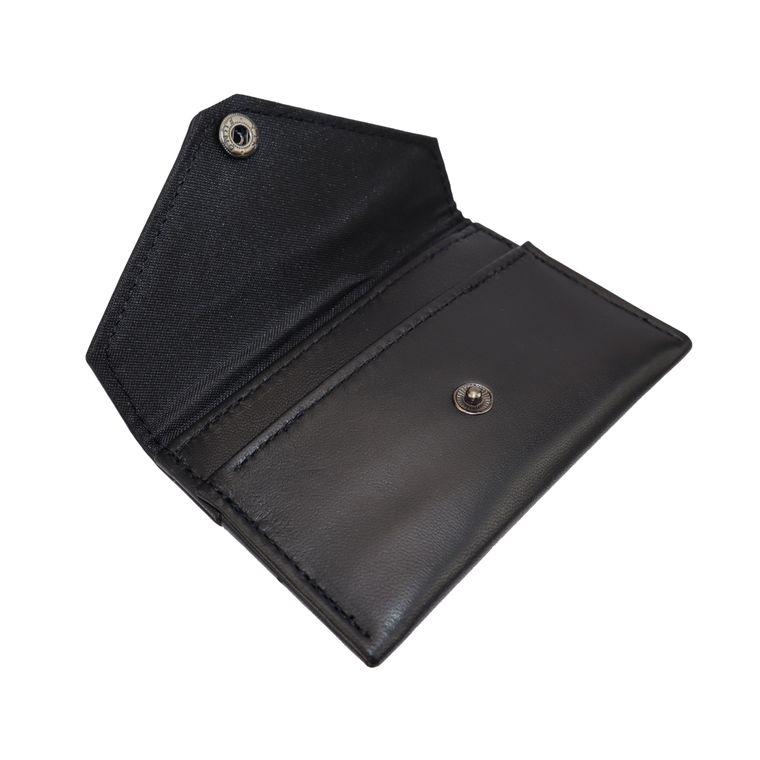 Women's Lambskin Leather Card / Cash Envelope Snap Pouch
