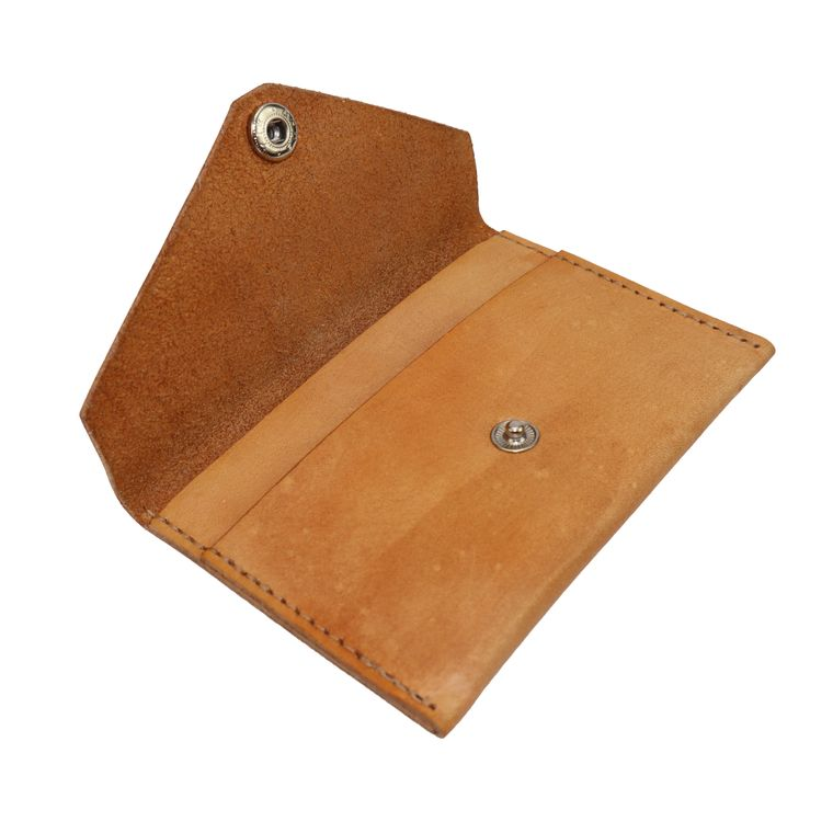 Women's Leather Cash/ Coin / Card Pouch Snap Wallet, Black, Tan Leather Women's Wallet (Tan)