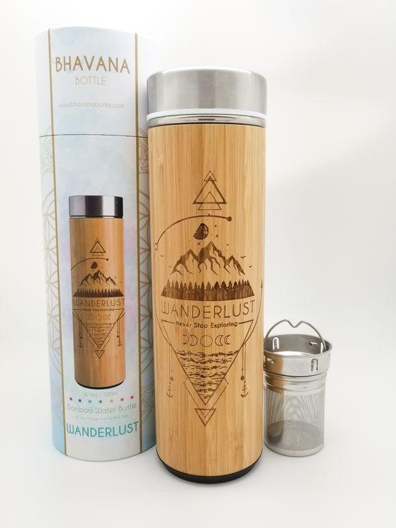 17.9oz WANDERLUST Bamboo Water Bottle