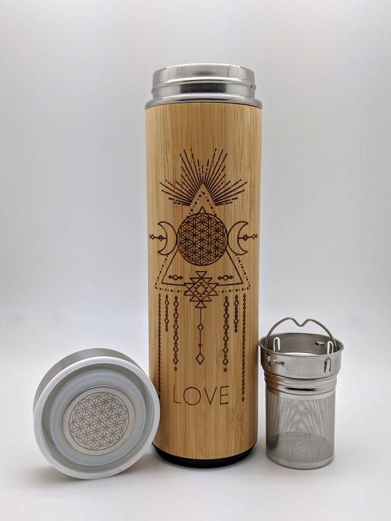 17.9oz LOVE Bamboo Water Bottle