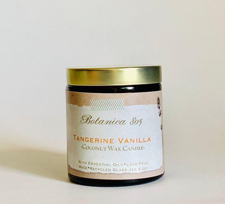 Tangerine Vanilla Candle | 4 oz