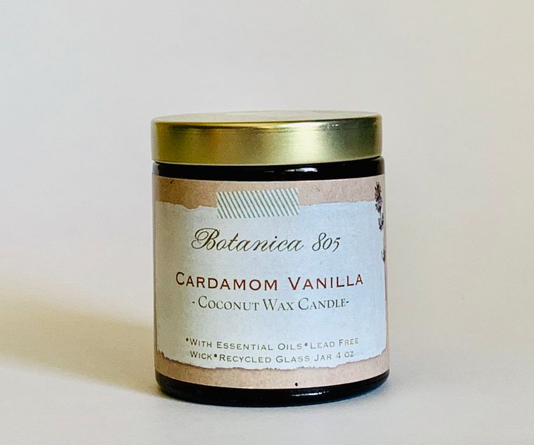 Cardamom Vanilla Candle | 4 oz