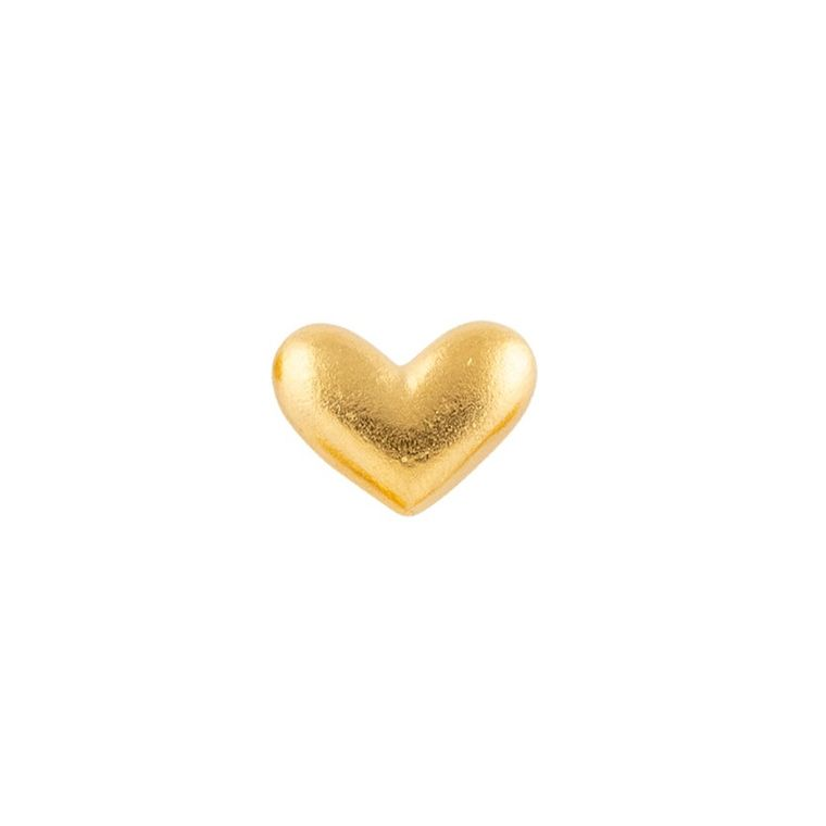 Golden Heart Pocket Charms 50-Bag