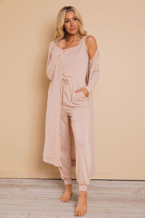 Twyla Jumpsuit + Cardigan Set