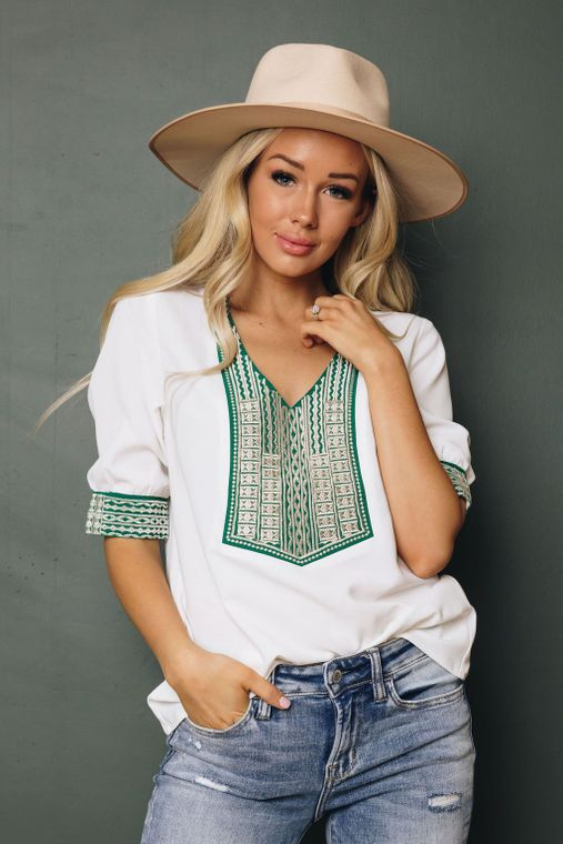 Denise Embroidered Blouse
