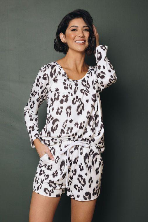 Jasmine Leopard Loungwear Set