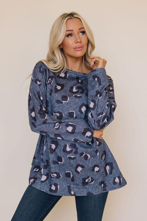 Esther Leopard Pullover