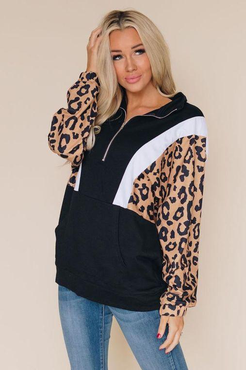 Kaylee Mae Leopard Sweatshirt