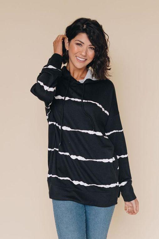 Shake It Off Striped Hoodie