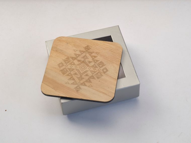 Eco friendly Water Hyacinth Coasters - Set of 4