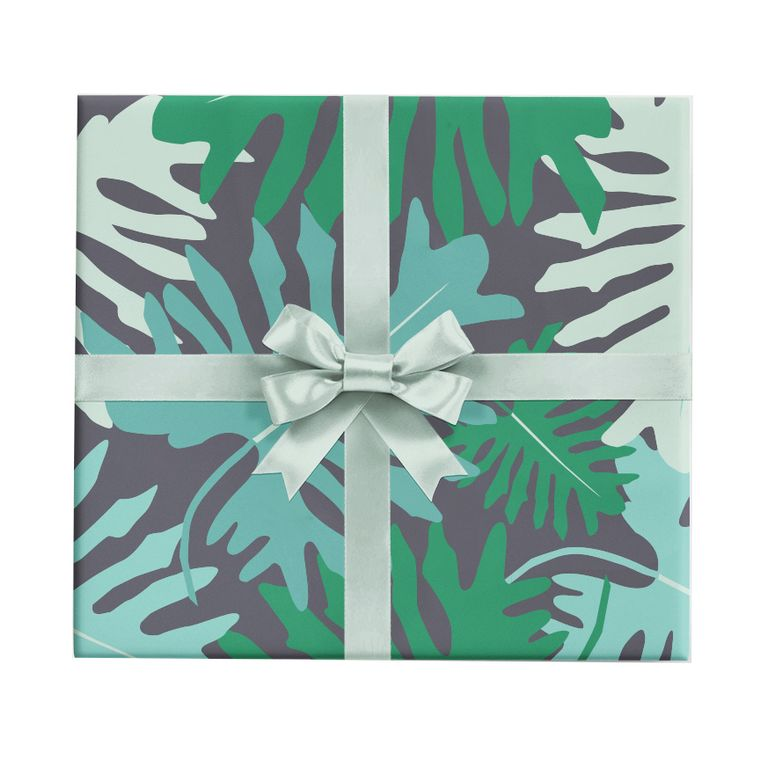 Big Tropical Leaves Wrapping Paper Roll (3 sheets/roll)