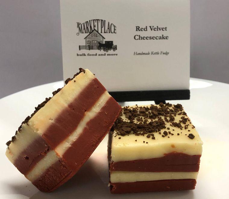 Red Velvet Cheesecake Fudge