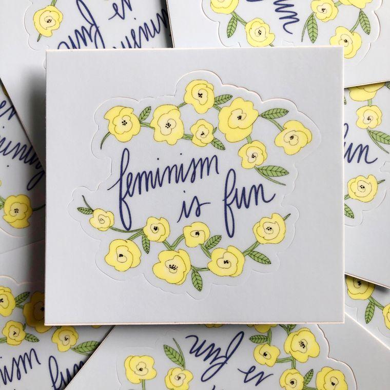 Feminism is Fun sticker