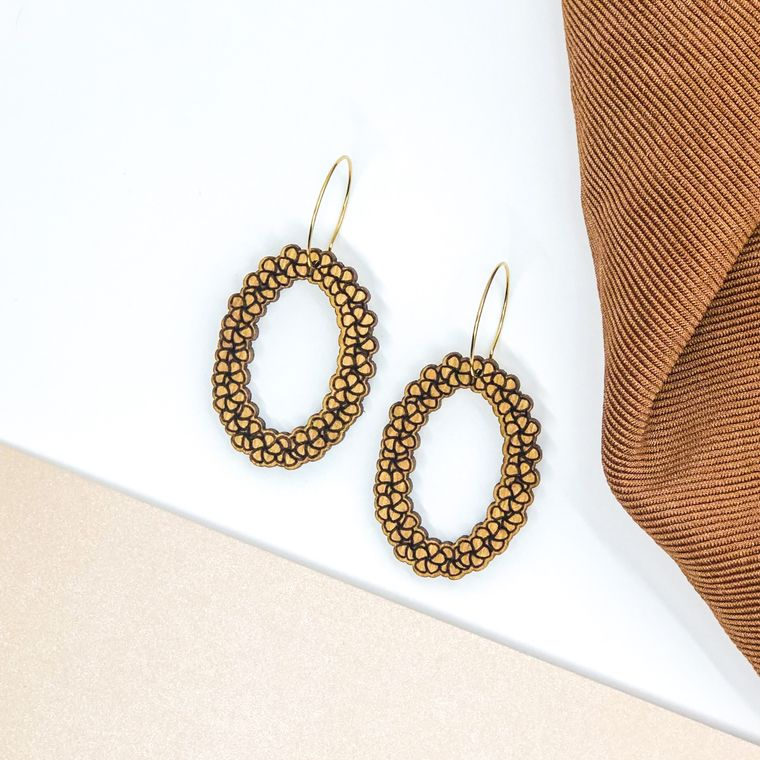 wood earrings | LEI