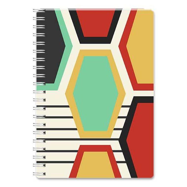 Elongated Large Hexagon Spiral Notebook