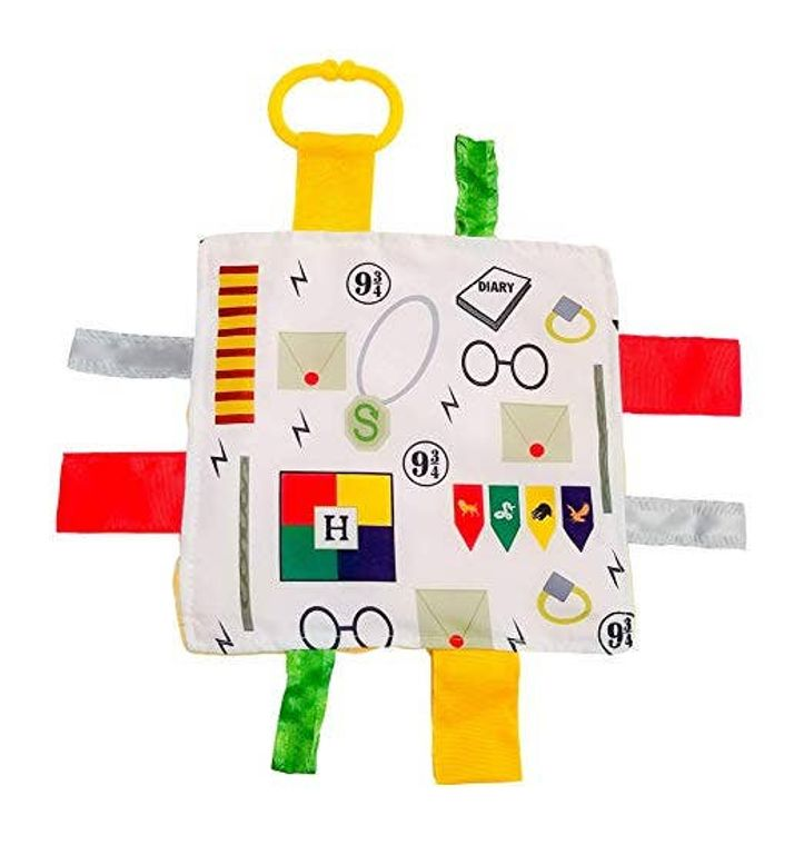 Wizard Magic Crinkle Tag Square 8x8 Baby Sensory Toy (pets too!)