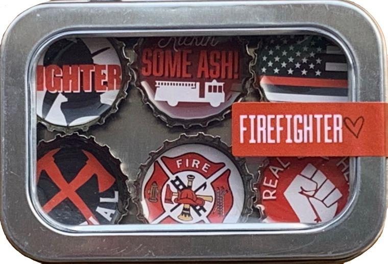 Firefighter Magnet - Six Pack