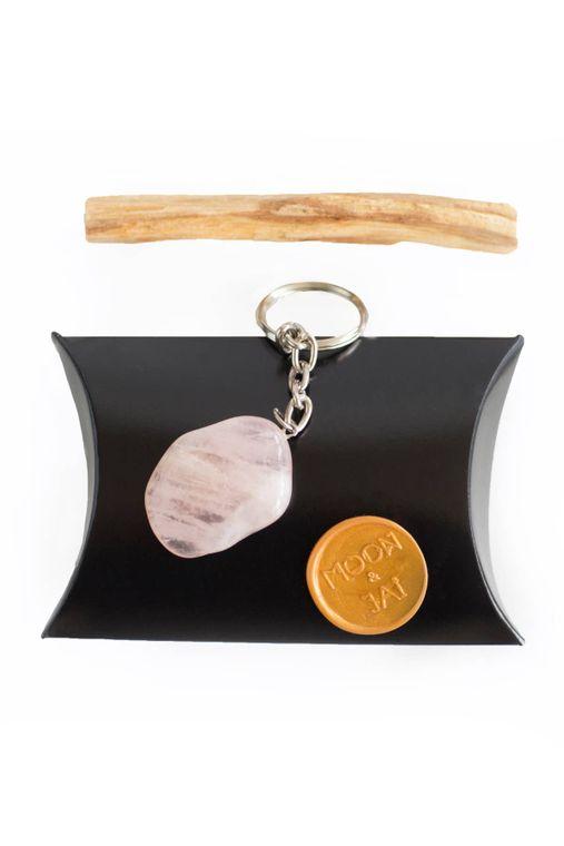 Rose quartz home harmonizer ~ talisman keychain